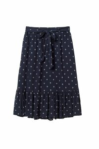 Womens FatFace Blue Lauren Textured Skirt -  Blue