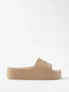 Balmain - Fringed Tweed Skirt - Womens - Navy Multi