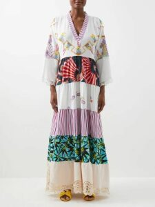 Haider Ackermann - Grosgrain Shawl Lapel Twill Blazer - Womens - Cream Multi