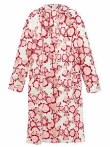 4 Moncler Simone Rocha - Floral Embroidered Pvc Raincoat - Womens - Pink
