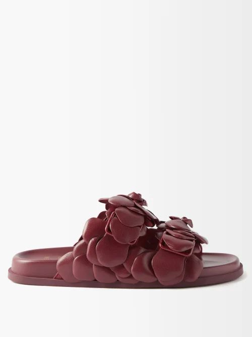 Batsheva - Tiered Cotton Midi Skirt - Womens - White