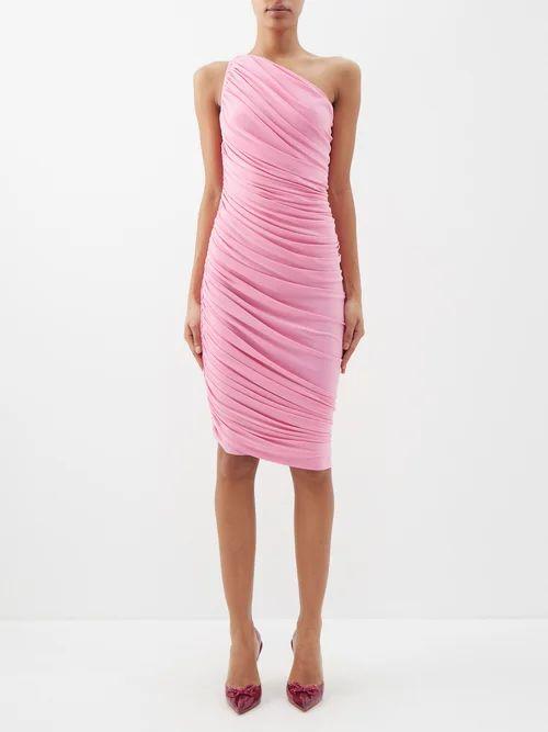 Erdem - Vivianne Rose Print Satin Slip Dress - Womens - Blue Multi