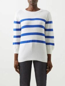 Erdem - Elena Checked Cotton Blend Midi Skirt - Womens - Black White