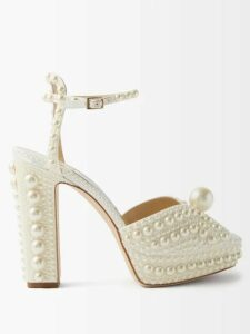Saloni - Raquel Printed Silk Crepe De Chine Midi Dress - Womens - Green Multi