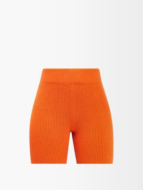 Summa - Single Breasted Gingham Cotton Blend Blazer - Womens - Cream Multi