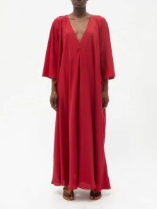 Summa - Belted Double Breasted Long Line Blazer - Womens - Navy