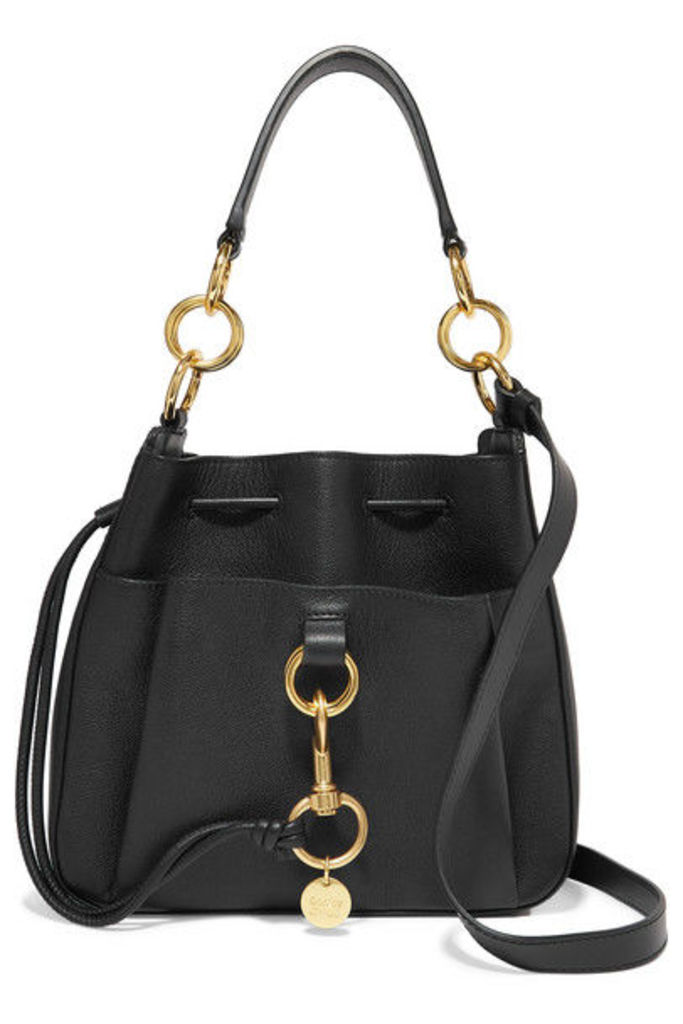 See By Chloé - Tony Textured-leather Bucket Bag - Black
