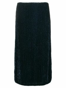 Retrofete straight sequinned skirt - Blue