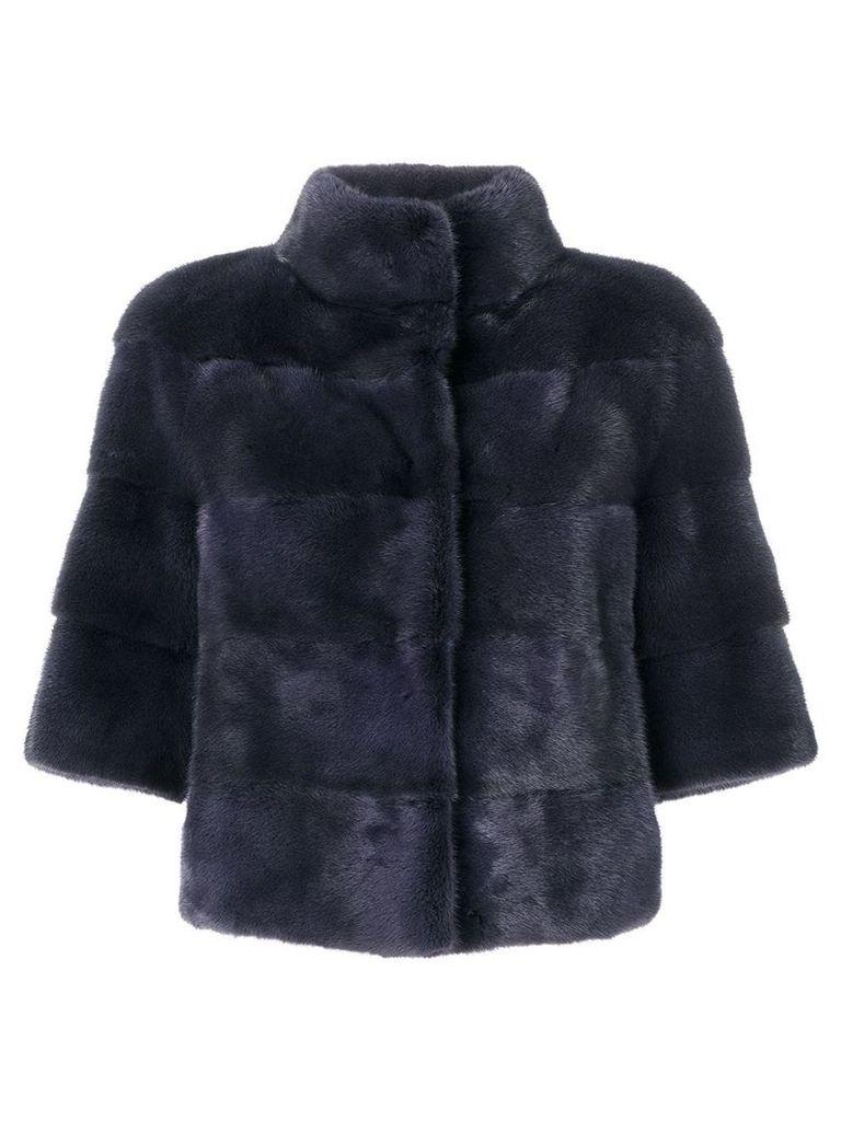 Cara Mila panelled coat - Blue