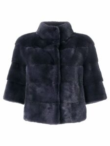 Cara Mila panelled coat - Blue
