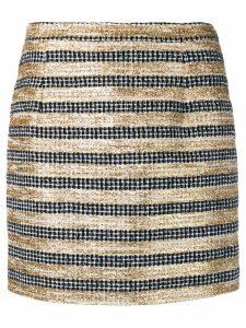 Alessandra Rich striped tweed mini skirt - Black
