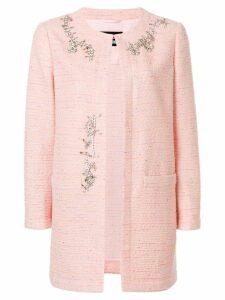 Boutique Moschino embellished tweed jacket - Pink
