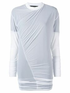 Y/Project sheer ruched top - White