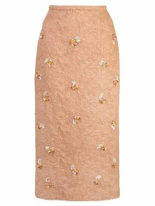 Rochas Ononi floral brocade skirt - Orange
