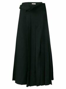 Yohji Yamamoto draped pleated skirt - Black