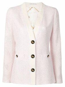 Alessandra Rich tweed blazer - Pink