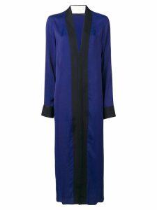Haider Ackermann black panelled maxi dress - Blue