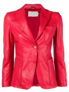 L'Autre Chose fitted blazer - Red