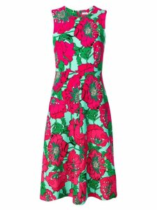 P.A.R.O.S.H. floral print flared dress - Pink