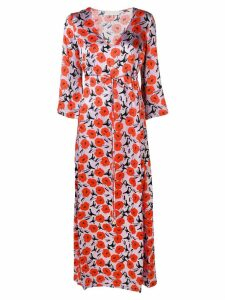 L'Autre Chose floral satin maxi dress - PURPLE