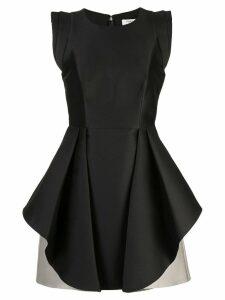 Halston Heritage flared two-tone dress - Black
