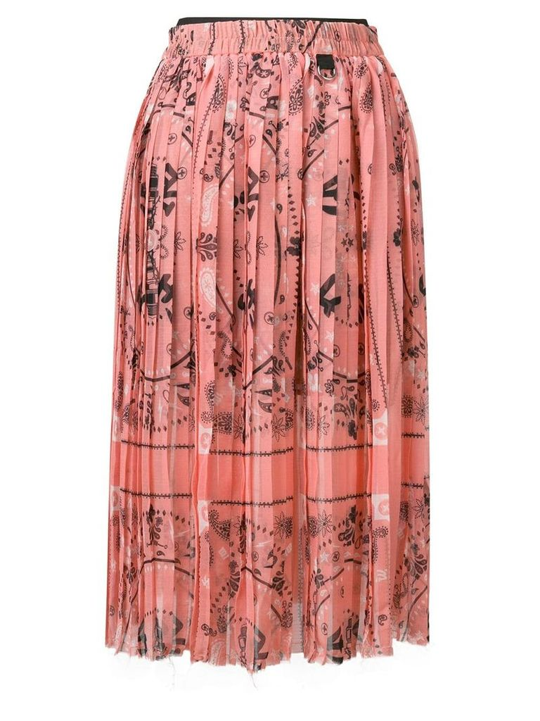 Diesel pleated midi skirt - Pink
