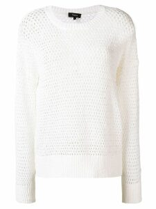 Theory open-knit jumper - White