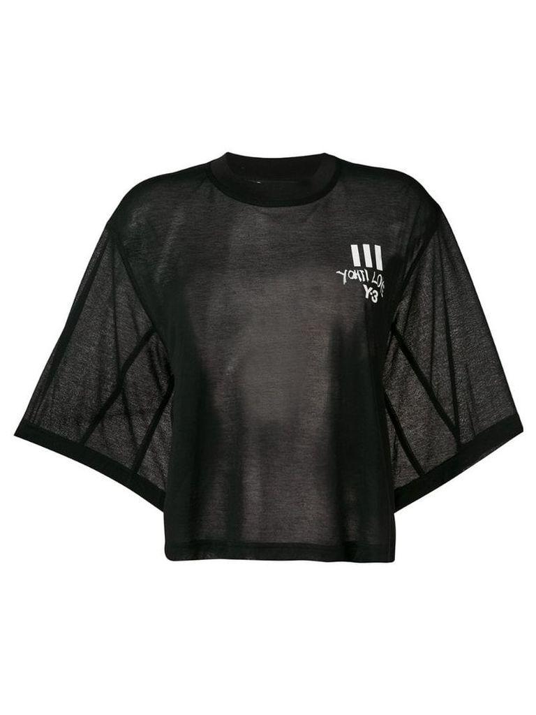 Y-3 I Love T-shirt - Black