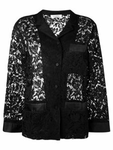 Valentino floral lace shirt - Black