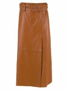 Nk midi leather skirt - Brown