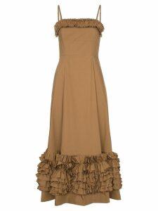 Molly Goddard Susie ruffled dress - Brown