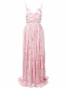 Brognano ruffled trim long dress - Pink