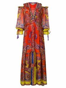 Etro printed flared long dress - Multicolour