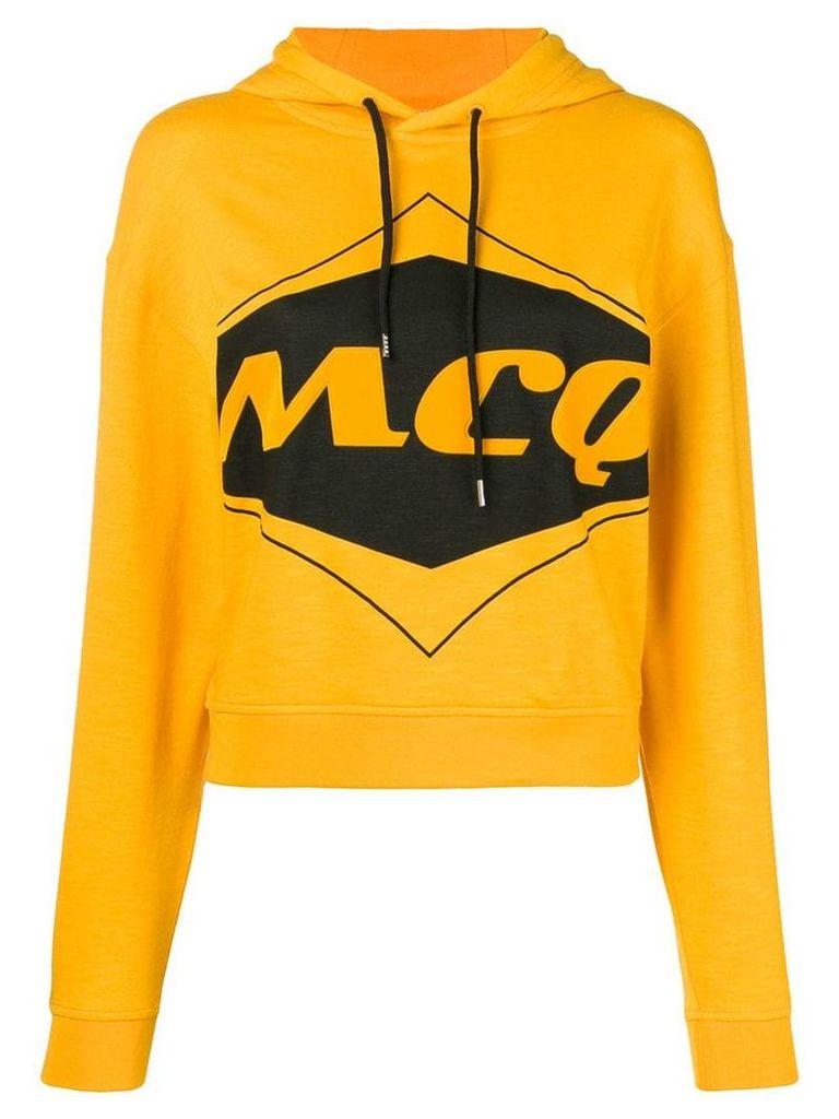 McQ Alexander McQueen logo hoodie - Yellow