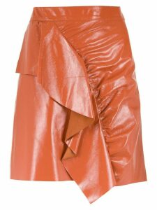 Nk leather skirt - Brown