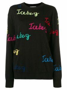 Iceberg logo-print sweater - Black