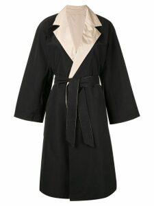 Max Mara classic bi-colour trenchcoat - Black