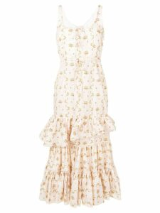 Brock Collection tiered floral print dress - Neutrals