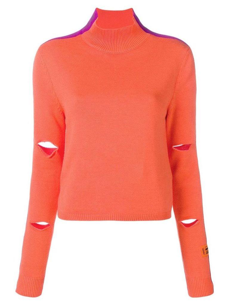 Heron Preston cut out details jumper - Orange