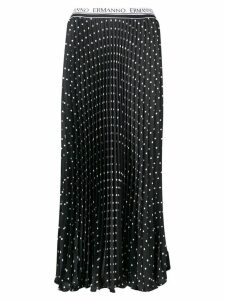 Ermanno Ermanno pleated polka dot skirt - Black