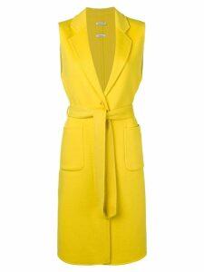 P.A.R.O.S.H. sleeveless midi coat - Yellow
