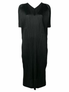 Pleats Please Issey Miyake short-sleeve pleated dress - Black
