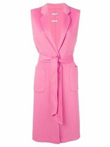 P.A.R.O.S.H. sleeveless midi coat - Pink