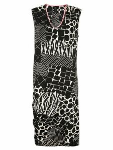 Zero + Maria Cornejo asymmetric all-over print dress - White