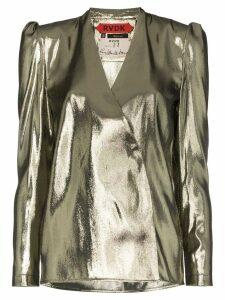 Ronald Van Der Kemp V-neck blouse - Metallic