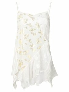 Semicouture floral sleeveless top - White