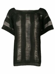 Calvin Klein sheer-panel T-shirt - Black