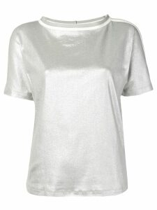 Fabiana Filippi white trim T-shirt - Silver