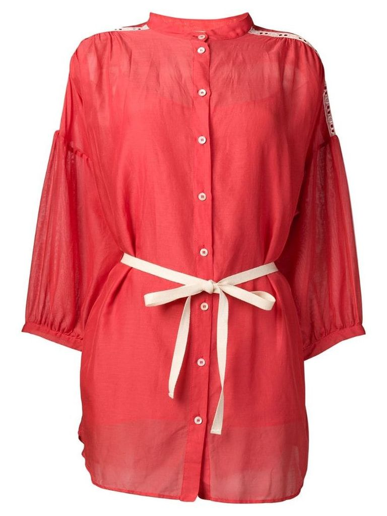 Semicouture coral oversized blouse - Red