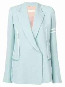 Ssheena stripe detail double breasted blazer - Blue